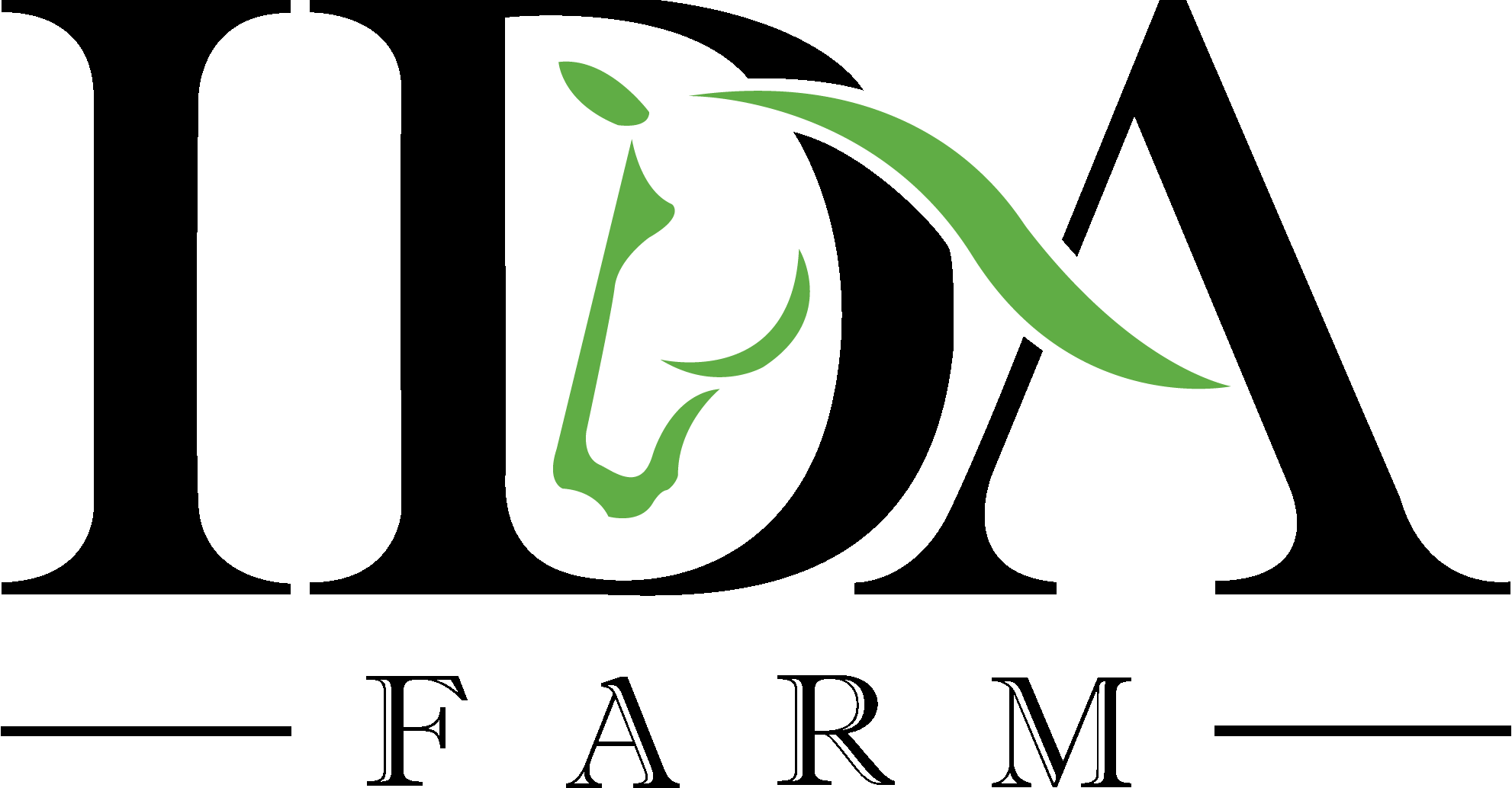 logo ida farm black